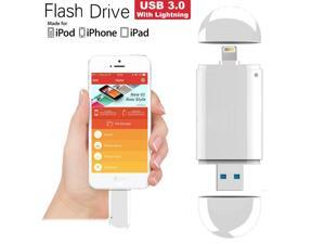 Costech Apple MFI Certified 64GB USB 3.0 Flash Drive with Lightning Connector External Storage Memor