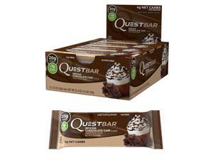Quest Mocha Chocolate Chip 20g Protein Bar 12PK Coffee Gluten-Free 4-Net Carb
