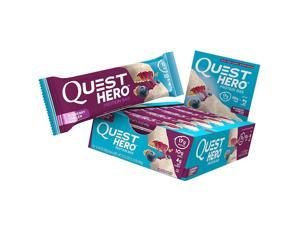 Quest Hero Protein Bar Blueberry Cobbler 10 Count Low Carb Gluten-Free