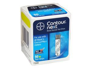 Bayer Contour-Next Blood Glucose Meter Test Strips 50ct No-Coding 7308