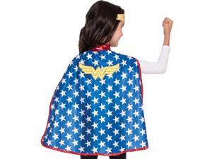 DC Comics Wonder Woman Cape Tiara Costume Set size O/S Licensed Rubie's 31981