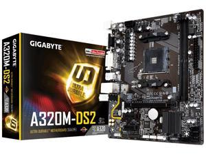 Gigabyte GA-A320M-DS2 AMD A320 Socket AM4 DDR4 Micro ATX Motherboard (GA-A320M-DS2)