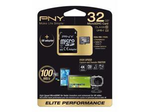 PNY Elite Performance 32GB microSDHC Flash Card Model SDU32G10ELIPER-EF