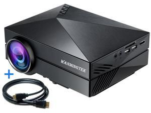 Wanmingtek LED GM60 Movie Projector Full 1080p 1000 Lumens with HDMI Cable