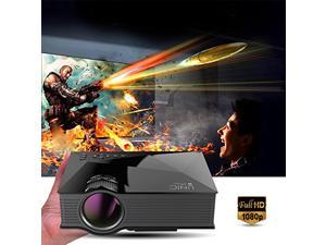 "Wanmingtek Home Theater Projector,  1200 Lumens Full Color 130"" Image Video Projector Game Projector - Support HD 800x480P Video /IP/IR/USB/SD/HDMI/VGA - Black"