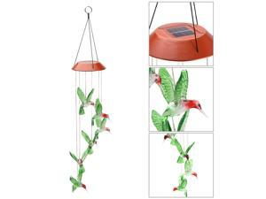 Wanmingtek Romantic LED Wind Chime Lights, Solar Color Changing Solar Mobile Wind Chimes Lights Night Light For Home, Party, Festival Days, Garden,Christmas Decoration with Spinning Hook(Humming Bird)