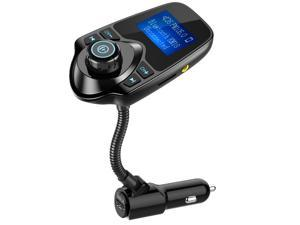 Wanmingtek Wireless In-Car Bluetooth FM Transmitter Radio Adapter Car Kit with 1.44 Inch Display and USB Car Charger