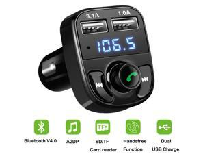 Wanmingtek USB 4.1A Car Fast Charger Bluetooth Car Kit Transmissor FM MP3 Player Com LED  Display  Micro SD TF Music Playing