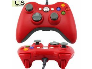 Red USB Wired Controller For PC & Microsoft Xbox 360 Remote Gamepad US Shipping