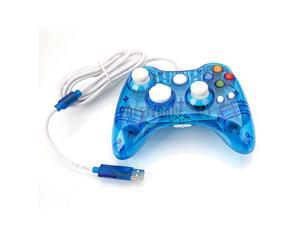Wired USB Controller Gamepad Joypad For Microsoft Xbox 360 PC Afterglow Blue