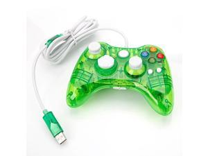 Wired Controller USB Gamepad Joypad For Microsoft Xbox 360 PC Windows10 Green