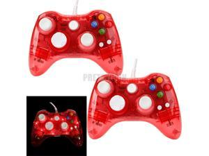 2X Wired Controller USB Gamepad Joypad For Microsoft Xbox 360 PC Windows10 Red