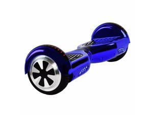 "UL2272 Certified 6.5"" LED Chrome Bluetooth Self Balancing Electric Scooter Board - Chrome Blue"