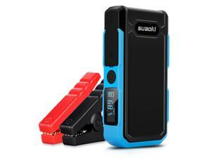 Suaoki 20000mAh 800A Peak Car Jump Starter Auto Battery Booster Dual USB Power Bank with Intelligent Alligator Clamps and LCD Flashlight, Blue