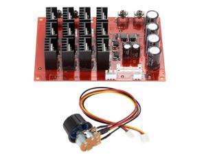 Excellent 10-50V #47;60A #47;3000W DC Motor Speed Control PWM HHO RC Controller 12V 24V 36V 40V 50V