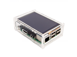 "Acrylic Case Compatible for Raspberry Pi 2 Pi3 Model B Original 3.5"" LCD TFT Touch Screen Display"