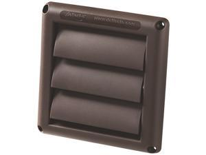 "Deflecto HS4B - 4"" Brown Replacement Vent Hood"