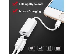 2in1 Lightning Auido Charger Earphone headphones Jack Cable Charging Adapter Converter For IPhone 7 8 Plus X