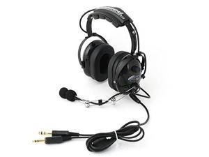 Rugged Air RA200 Black General Aviation Pilot Headset