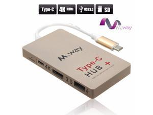 Type-C to 4K HDMI USB 3.0 HUB USB-C Charging Port SD Card Reader Multiport Adapter USB 3.1