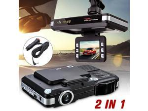 2In1 MFP 5MP Car Camera DVR Dash Cam Recorder Radar Laser Speed Detector Trafic Alert G-Sensor Night Vision