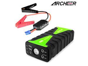Archeer 16800mAh 12V 2-USB Car Jump Starter Battery Booster Charger Power Bank Emergency Power Supply