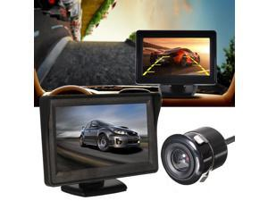 "4.3"" LCD Display Monitor Car Rearview Reverse Parking Backup Waterproof Camera Kit"