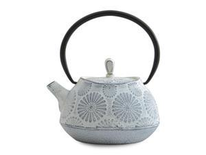 BergHoff Studio Line - Teapot - With Mesh Filter to Trap Tea Leaves - Cast Iron - White - 1.1l