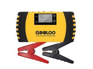 GOOLOO® 1000A Car Jump Starter (up to 8.0L Gas, 6.0L Diesel Engine) Heavy Duty 12V 20800mAh Portable Phone Power Bank Auto Battery Charger Pack Booster Built-in LED Light and Smart Protection Yellow