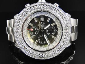 Custom Breitling Super Avenger 53 MM Diamond Watch (24 Ct)