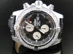 Custom Breitling Super Avenger 48 MM Diamond Watch