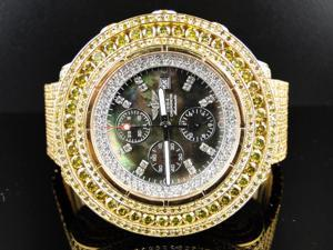 Breitling Super Avenger Canary Diamond Watch 50 Ct
