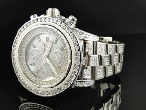 Custom Breitling Super Avenger 52 MM Diamond Watch (22 Ct)