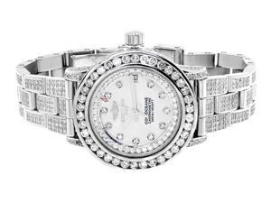 Ladies Breitling Aeromarine White Mother of Pearl Colt 33 Diamond Watch (13.5 Ct)