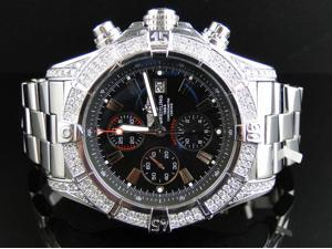 Custom Breitling Diamond Watch (2.5 Ct)
