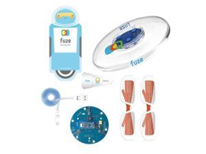 Zubi Flyer - Programmable Frisbee makes learning code easy. Fun Arduino (ATmega32u4) electronic tinker kit: microcontroller, LEDs, Piezo Buzzer, photocell light sensor, and button and reed switches.