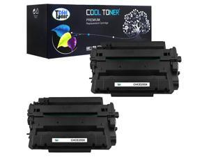 Cool Toner 2 Pack Compatible HP 55X CE255X Black Toner Cartridges