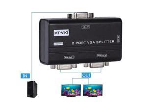 MT-2502AS 250Mhz 2 Port VGA Video Splitter Distributor 1 input to 2 Output support widescreen LCD Monitors