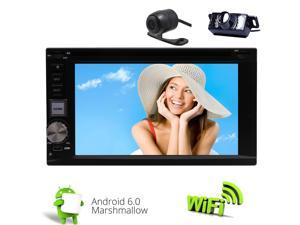 Dual CAM-IN !Universal Double DIN Head Unit GPS Navigation In Dash DVD CD Player Support Steering Wheel Conrtol OBD WIFI USB SD Radio Video Mirror link