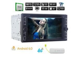 Upgrade Eincar Android 6.0 Car Radio Stereo DVD Player Car GPS Navigation System In Dash Double 2 Din Headunit Autoradio Support WIFI/3G/OBD/DAB+/SWC Bluetooth Screen Mirroring + 4G Dongle