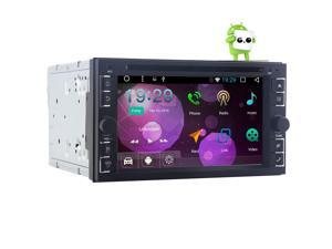 6.2 inch Android 6.0 Car Stereo Double 2 Din In Dash Bluetooth Auto Radio - GPS Navigation DVD CD Player - 64GB USB SD 3G/4G WIFI OBD2 Dual Cameras Input Mirror Link DAB+ Quad-core Stereo 2G RAM+ 16G