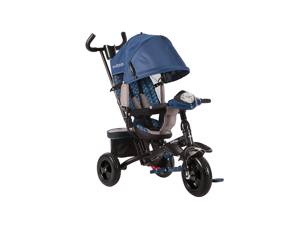 Evezo Baby Tricycle with Rotating Seat Mak - Blue