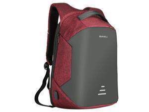 da8290729d0 ESTONE Backpacks Men USB Charge Laptop Backpack Minimalist Fashion Anti  theft Backpack Casual Mochila Waterproof Travel Bag, Red