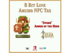 8 Bit Link Amiibo NFC Tag Card   Zelda Breath ...
