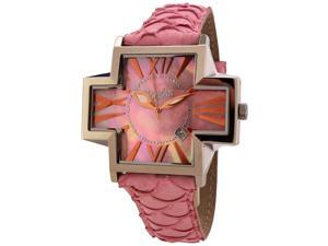 Locman Italy Plus Women's Pink Kingfish Leather Watch