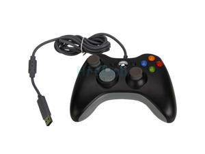 Black Xbox360 Wired USB Game Controller for Xbox 360 Slim PC Windows 7