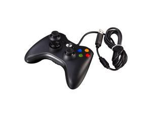USB Wired Game Pad Controller for Microsoft Xbox 360 PC Windows Black
