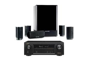 Denon AVR-X1300W 7.2 Channel Full 4K Ultra HD Network A/V Home Theater Receiver (Black) + Harman Kardon HKTS 15 5.1-Ch Home Theater Speakers