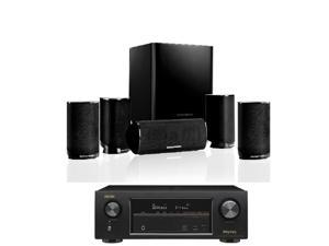 home theater in a box. harman kardon hkts 9bq 5.1-channel home theatre speaker theater in a box 2