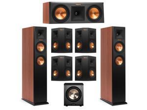 klipsch 7 1 surround sound system. klipsch 7.1 cherry system with 2 rp-250f tower speakers, 1 rp-250c 7 surround sound m